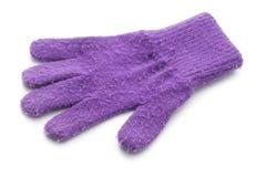 Violetter Handschuh lizenzfreie stockbilder