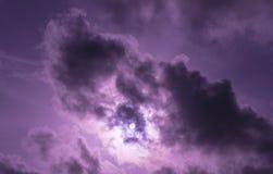 Violetter Himmel stockbilder