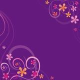 Violetter Hintergrund mit Frühlingsverzierungen Lizenzfreie Stockfotografie
