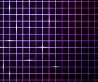 Violetter Laserlicht-Rasterfeld-Hintergrund Stockbilder