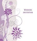 Violetter mit Blumenhintergrund lizenzfreie abbildung