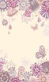 Violetter mit Blumenhintergrund Stockfotografie