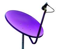 Violetter Satelitte auf whilte Hintergrund Stockbilder