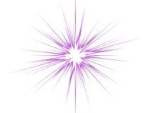 Violetter Stern auf einem weißen Hintergrund. Lizenzfreies Stockbild