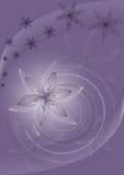 Violetter vektorhintergrund mit Blumen lizenzfreie abbildung