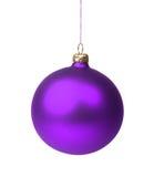 Violetter Weihnachtsflitter Stockbild