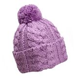 Violetter woolen Hut Stockfotografie