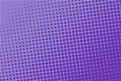 Violettes Halbtonmuster Digital-Steigung Abstrakte futuristische Platte für Website, Fahne in der Pop-Arten-Art, Comic-Buch lizenzfreie abbildung