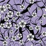 Violettes Muster von Blumen Nahtloses Muster Stockfotografie