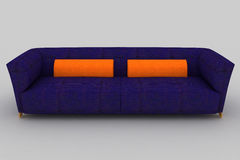 Violettes orange Sofa Stockfoto