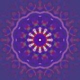 Violettes Purpur der regelmäßigen abstrakten runden Blüte zentrierte verwischt lizenzfreie abbildung