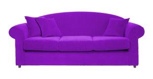 Violettes Sofa Stockbild