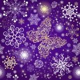 Violettes Steigungsveilchen nahtloser Weihnachtsrüttler vektor abbildung