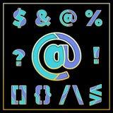 Violettes stilisiertes Symboldesign des Emailmosaiks jewerly Lizenzfreies Stockfoto