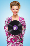 Violettes Vinyl Stockfoto