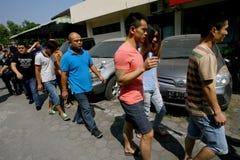 Violez les lois d'immigration photo libre de droits