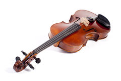 Violin. On a white background Royalty Free Stock Photos