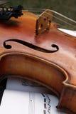 Violin. Closeup of a violin Stock Photography