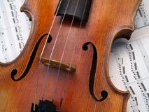 Violin. Closeup of a violin Stock Photo