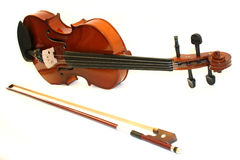 Violin. On a white background royalty free stock photography