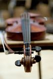 Violin. Sliced photographies different music instrument Stock Images