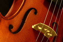 Violin. Close up of a violin stock photography