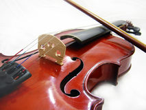 Violin. Isolated Violin Picture. White background with soft shadows Royalty Free Stock Images