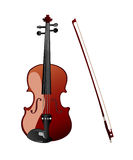 Violin. Icon on the white background Stock Images