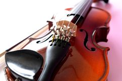 Violin. And bow for children Royalty Free Stock Photo