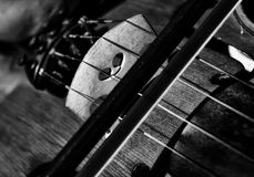 Violin. Work in black and white detail Royalty Free Stock Image