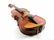 Violin. Classic violin photographed on a white background stock images