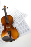Violin. On white background. Studio shot Royalty Free Stock Images