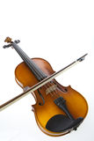 Violin. On white background. Studio shot Royalty Free Stock Photography