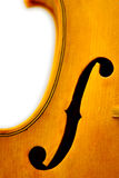 Violin. Closeup of a  violin's f-hole Royalty Free Stock Photo