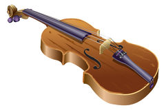 Violin. Illustration of the violin in its entirety Stock Photography
