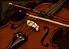 Violin. Illustration in dark colors Royalty Free Stock Images