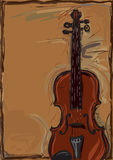 Violin. Hand drawing Violin illustration for poster and other printing Stock Photography