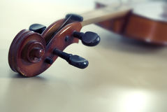 Violin. Classic violin design on blur background Stock Photography