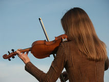 Violin. Play Royalty Free Stock Image