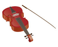 Violin. A 3d Violin and a bow illustration Royalty Free Stock Photography