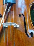 Violin. Closeup of a violin Royalty Free Stock Photo