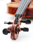 Violin. On white, shallow depth of field Stock Photo