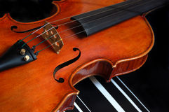 Violin. A violin against black backdrop Stock Photo