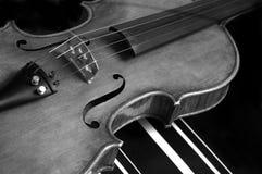 Violin. Vintage violin isolated on black Stock Photo