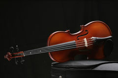 Violin_6. Violin in black background with high-light Royalty Free Stock Photography