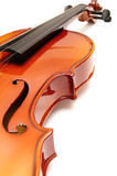 Violin. Detail of a classical violin on a white background Stock Images