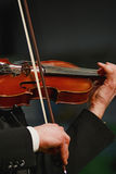 Violin. Musician playing violin with expression Stock Photo