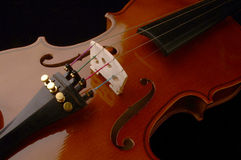 VIOLIN. String musical instrument made of wood Royalty Free Stock Photos