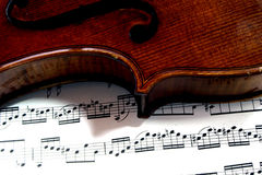 Violin. Nice classic shiny red violin with a warm sound Royalty Free Stock Photography