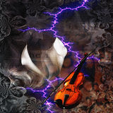 Violin Abstract Royalty Free Stock Photos